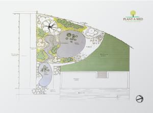 Bideford, Devon Garden Design by Plant A Seed sketch plan