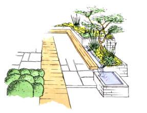 HorseGuards, Exeter Garden Design by Plant A Seed - sketch