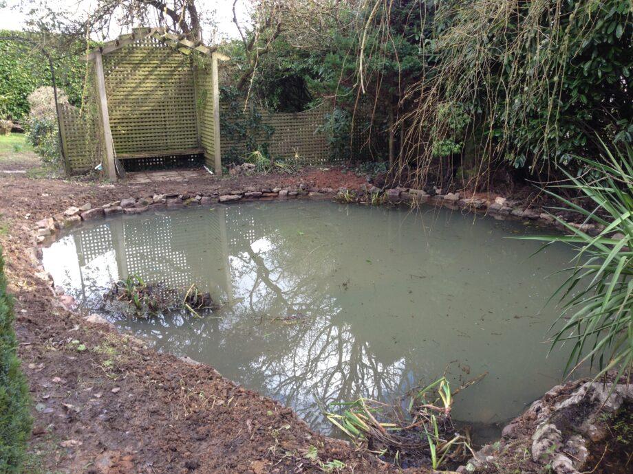 Zeal Monachorum pond renovation